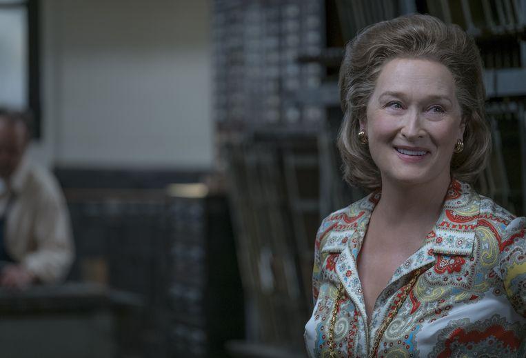 Meryl  Streep als krantenuitgeefster Katharine Graham.  Beeld Niko Tavernise