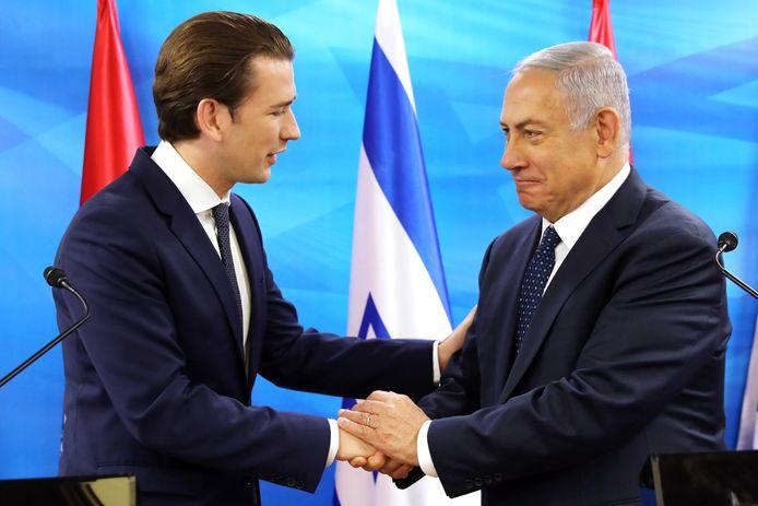 Kurz met Netanyahu.