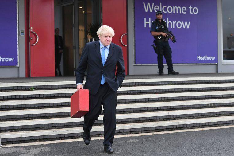 Brits premier Boris Johnson vertrok gisterenavond naar New York.