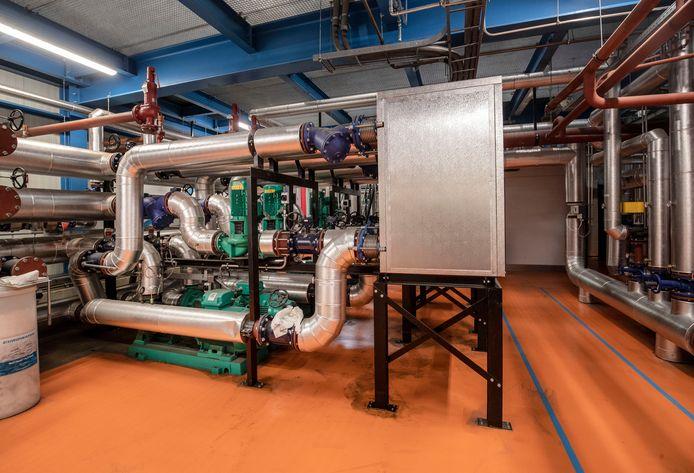 De warmte-wisselaar van Bio-Energie Ede aan de Geerweg.
