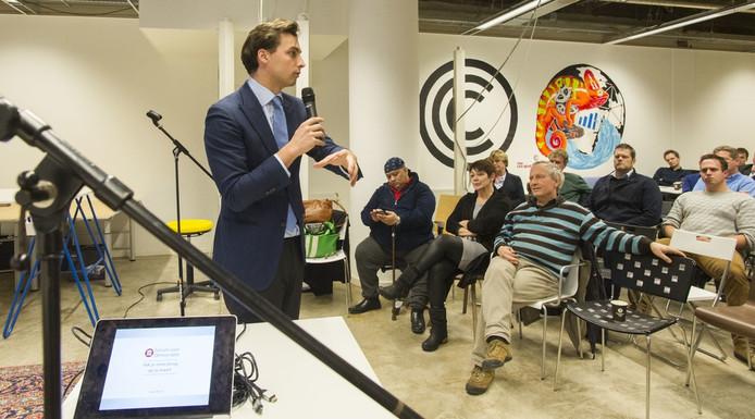 FVD-leider Thierry Baudet, in Enschede. Foto: Frans Nikkels