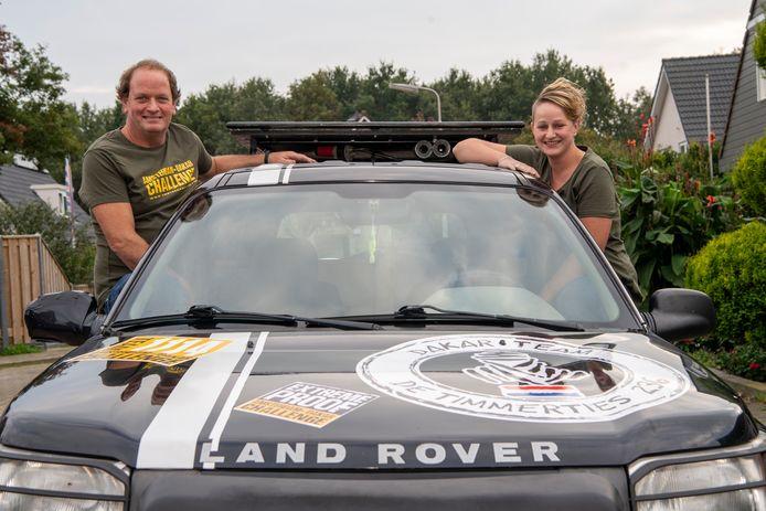 Vader Willem en dochter Suzanne Timmermans doen mee aan de Amsterdamse Dakar Rally.