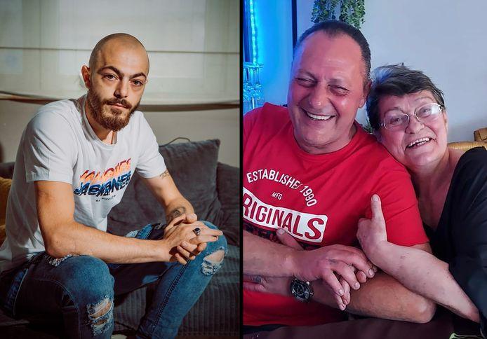 Jessy Pittomvils (links) verloor zijn vader Jean-Louis Pittomvils (centraal). Evelyne Devrouw (rechts), de grootmoeder van Jessy, raakte gewond bij de home-invasion in Dilbeek.