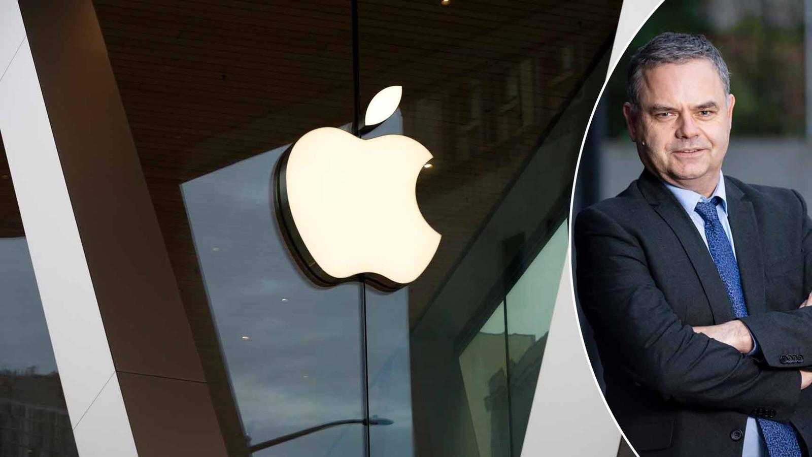 Apple is een van de bedrijven die eigen aandelen inkoopt om daarna te vernietigen (links). Beursexpert Pascal Paepen (rechts).