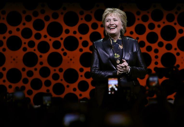 Clinton tijdens haar toespraak in San Francisco.  Beeld AFP