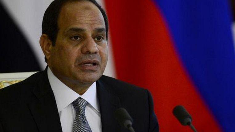 Egyptische president Abdel Fatah al-Sisi Beeld rv