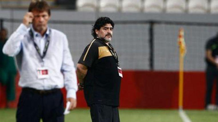 Frank Vercauteren en Diego Maradona Beeld Al Jazeera