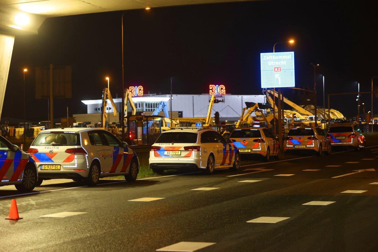 Een van de nachtelijke controles bij de A2 in de buurt van De Groot.
