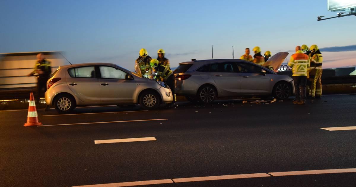 Meerdere autos betrokken bij ongeluk op A58 bij Oirschot.