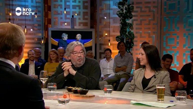 Maarten van Rossum bij Jinek. Beeld -
