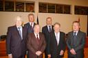 In 2010 op de riddering van het oud schepencollege. Op foto: achteraan: Pieter De Crem en Patrick Hoste. Vooraan vlnr. Jan De Crem, Gerard Wyckstandt, Walter Vermeire en Robert Verhelst.