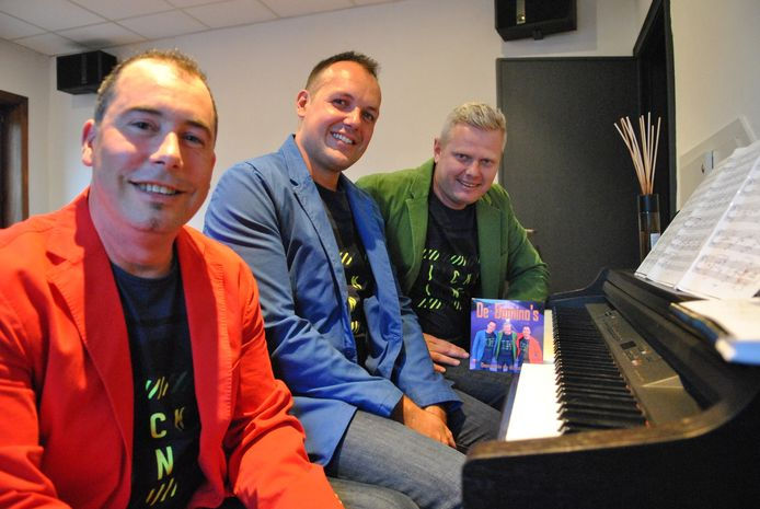 Nico, Brecht en Glenn met hun eerste single.