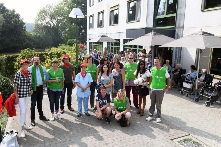 De werknemers van 't Spelthof voeren actie voor meer personeel.