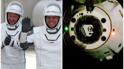 Astronauten SpaceX op weg naar aarde