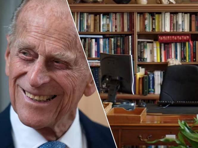 """Verlaten bureau van prins Philip geeft inkijk in zijn leven: """"Er hangen nog mosterdvlekken op het plafond"""""""