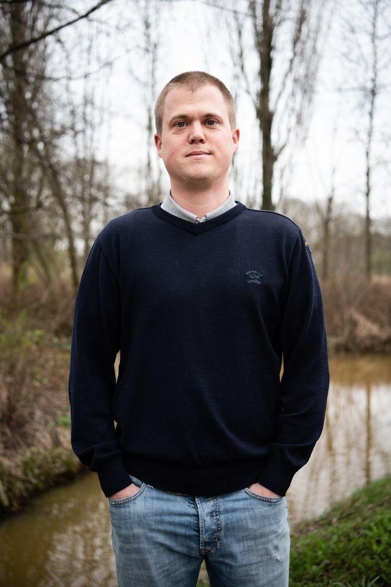 Dordrecht 21 maart 2019 Wessel Sleeking Forum voor Democratie FVD stemmer kiezer verkiezingen foto: Katja Poelwijk Beeld Katja Poelwijk