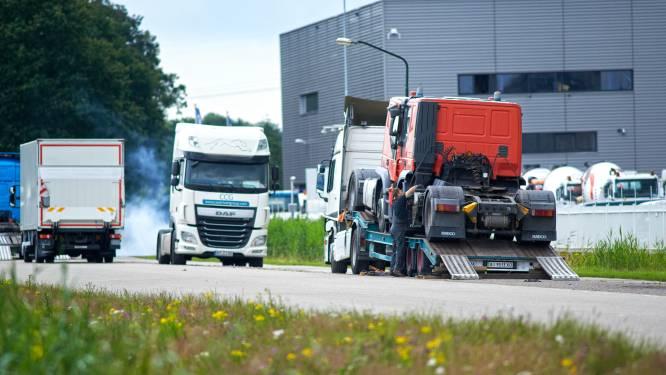 Meierijstad: migranten bij truckpark in Veghel