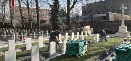 Restauratie op Westerbegraafplaats klaar: 88 weggezakte graven uit Eerste Wereldoorlog in ere hersteld