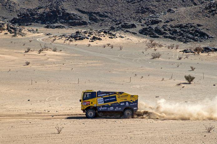 Team Fried van de Laar Racing in actie tijdens de Dakar Rally van 2020.