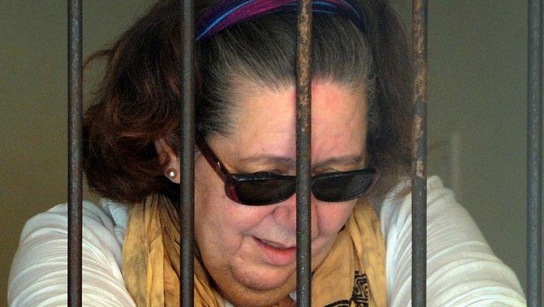 Linday June Sandiford zit in haar cel vlak nadat ze de doodstraf kreeg opgelegd. Beeld afp