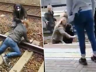 Hallucinante beelden in station Aarschot: vechtpartij op sporen, verdachte (35) opgepakt in toiletten
