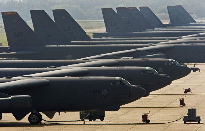 De B-52H bommenwerpers van de Amerikaanse luchtmacht.