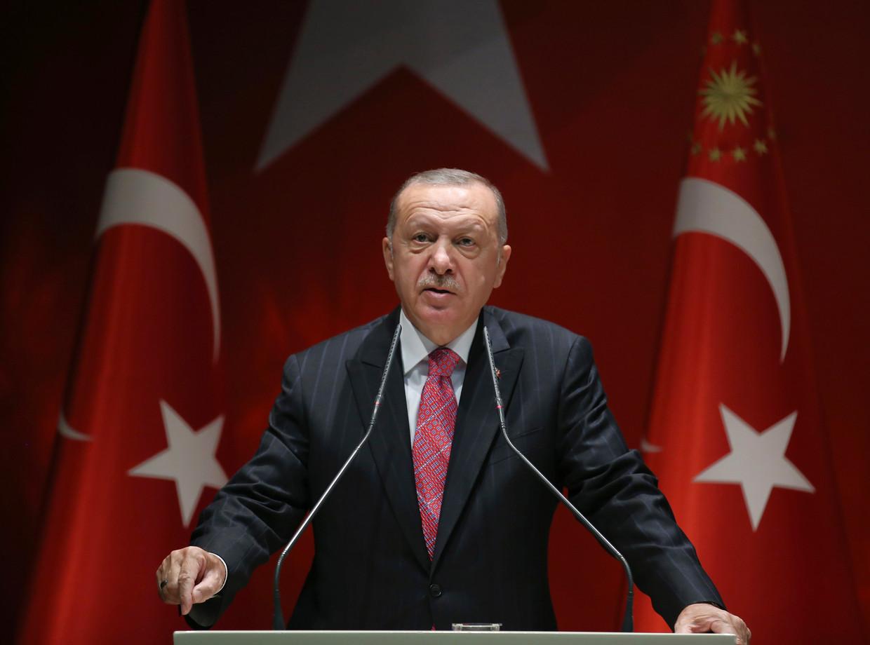 Recep Tayyip Erdogan, president van Turkije. Beeld AP