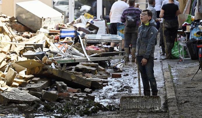 Ook Eupen werd zwaar getroffen door het noodweer
