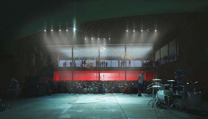 """""""Het casinogebouw moet evenementen met nationale uitstraling kunnen verwelkomen, maar de evenementenhal zal ook een toplocatie voor onze eigen evenementen worden"""", zegt schepen Tom Dedecker."""