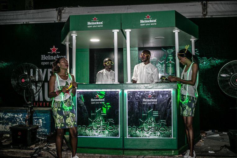 Een Heineken-evenement in de Nigeriaanse stad Lagos. Beeld The Shok Company