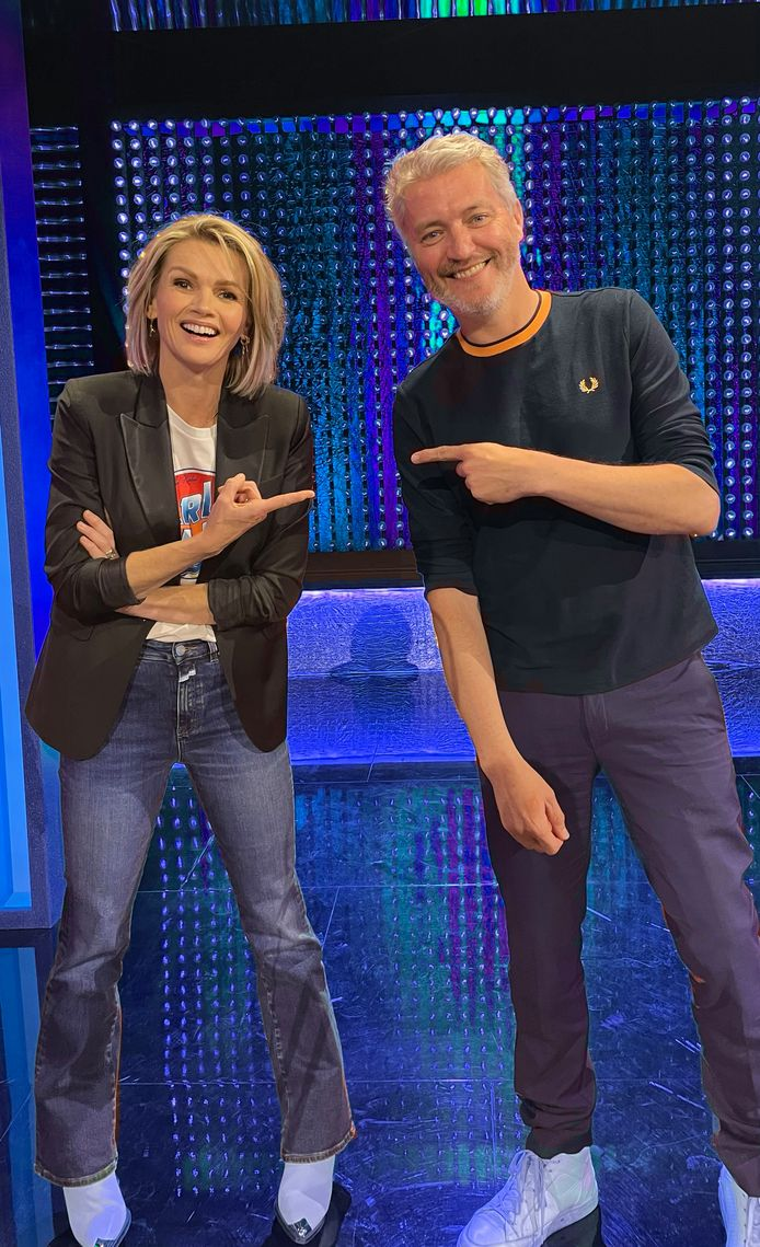 Kürt Rogiers samen met co-presentator Tooske