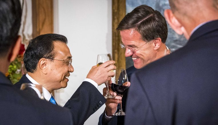 Premier Mark Rutte ontving in oktober premier Li Keqiang van de Volksrepubliek China.   Beeld ANP