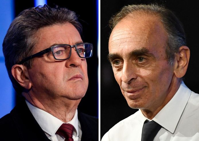 Jean-Luc Mélenchon et Éric Zemmour