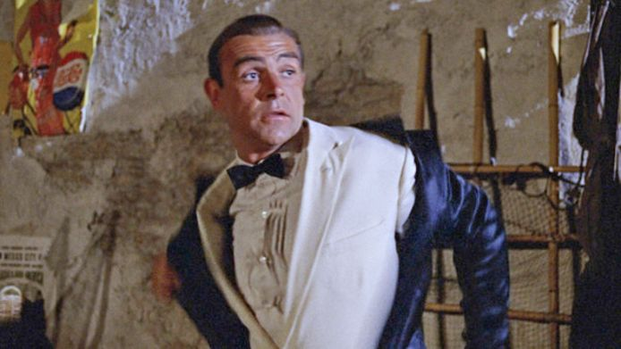 Sean Connery in Goldfinger.