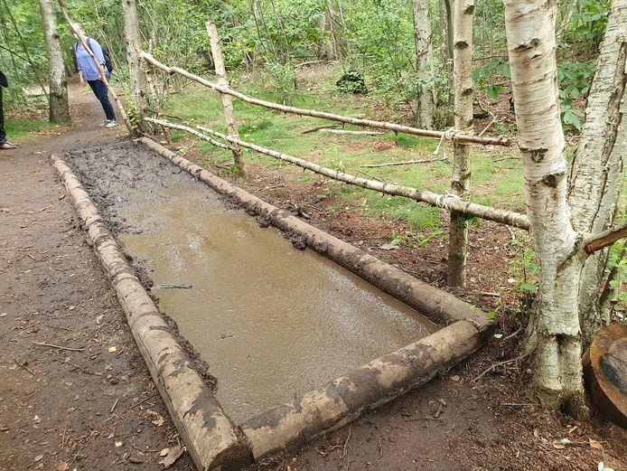 Het blotevoetenpad in Malle oogt spectaculair. Het modderbad is een van de favorieten.