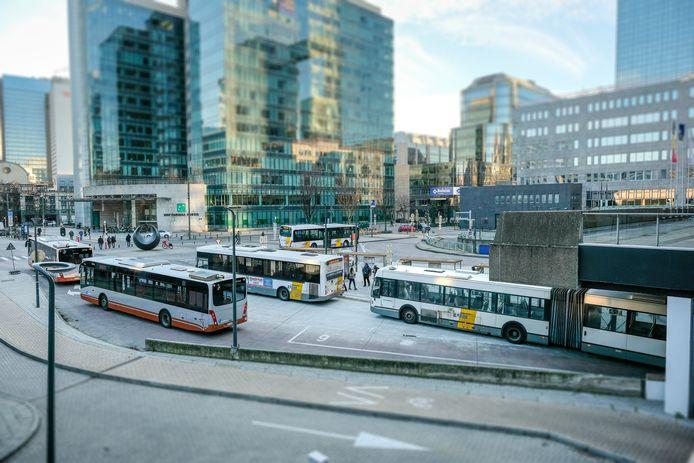 (Illustratiebeeld) Noordplein aan station Brussel-Noord