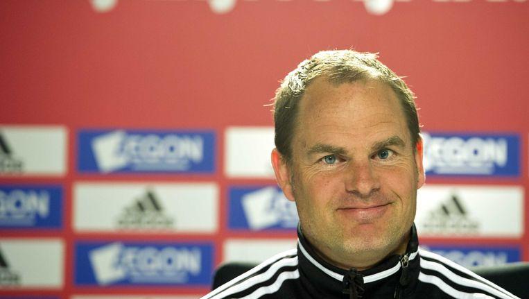 Na de 3-2 overwinning op PSV dit weekend zijn trainer Frank de Boer en zijn team weer een stapje dichterbij het landskampioenschap. Beeld ANP