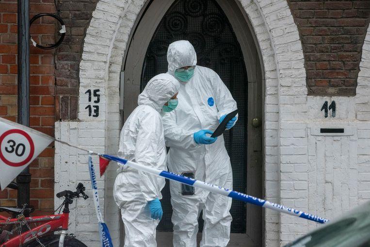 Sporenonderzoek in de Kongostraat in Gent.
