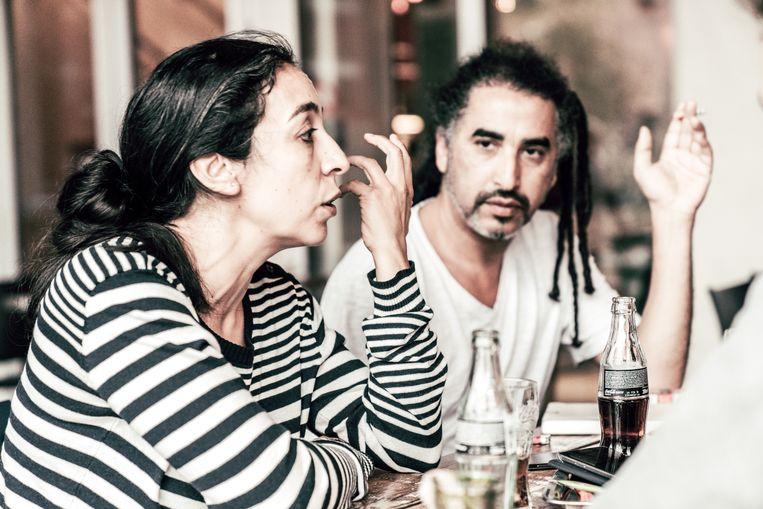 Rachida Lamrabet en Chokri Ben Chikha. Beeld Thomas Sweertvaegher