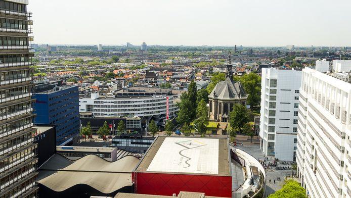 Uitzicht vanuit het voormalige ministerie van Binnenlandse Zaken op de plek waar het nieuwe Haagse cultuurpaleis moet komen.