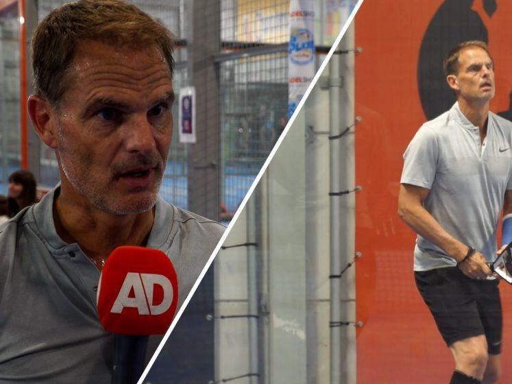 Frank de Boer vanaf padelbaan: 'Ik heb Oranje een plek gegeven'