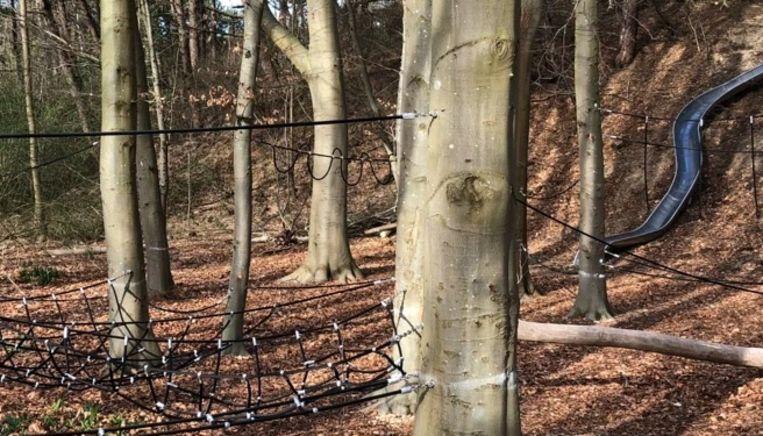 Het nieuwe avontuurlijke speelplein in de Duinbossen in De Haan.