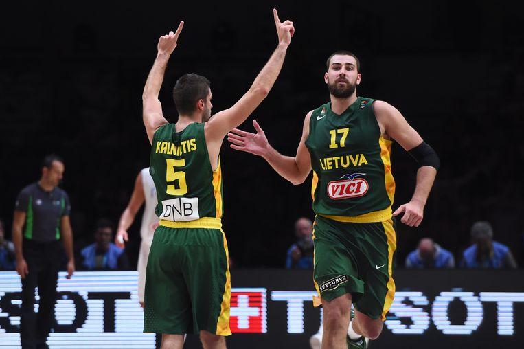 Litouwen klopte Italië en neemt het nu op tegen Servië in de halve finale Beeld AFP