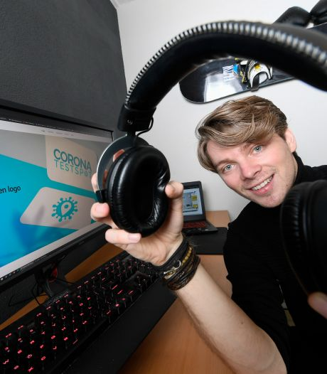 Webdesigner Frank (24) ontwerpt zelfs boekingssystemen voor coronatests met zijn bedrijf