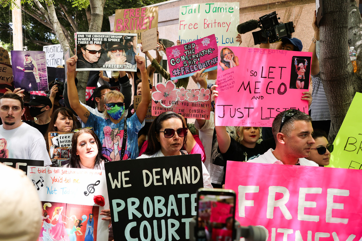 'Free Britney'-protest in Los Angeles Beeld Getty Images