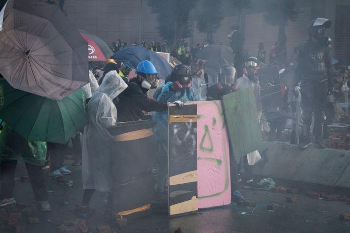 Betogers in Hongkong komen al maandenlang op straat.
