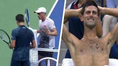 De scalp van Federer had hij al en ook Djokovic bracht hij vannacht aan het wankelen, tot Australiër een wel héél erg ongelukkige beslissing neemt