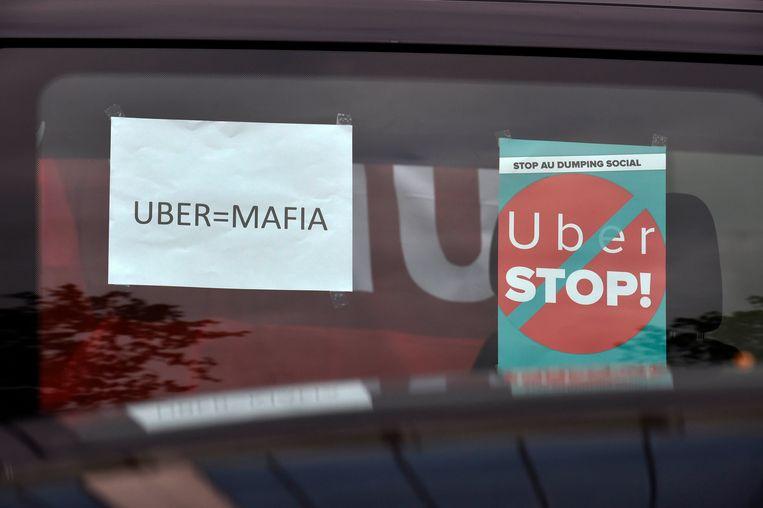 De komst van Uber zorgt voor veel nervositeit bij de bestaande taximaatschappijen. Beeld PHOTO_NEWS