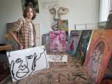 17-jarige Mees exposeert in Valkenberg: creatieve zelftherapie en appelsap