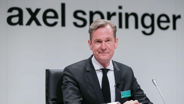 Mathias Döpfner, de bestuursvoorzitter van het machtige mediaconcern 'Axel Springer'. Beeld epa